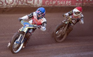 Swindon Robins v Coventry BeesJason Doyle and Peter Kildemand